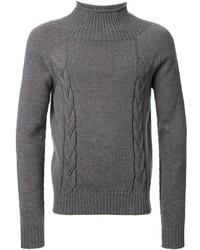 Pull à col roulé en tricot gris Maison Margiela