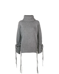 Pull à col roulé en tricot gris McQ Alexander McQueen