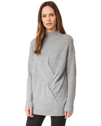 Pull à col roulé en tricot gris Rag & Bone