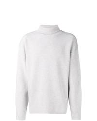 Pull à col roulé en tricot gris Tom Ford