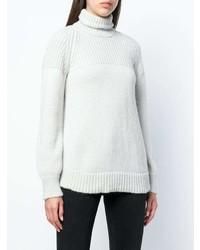 Pull à col roulé en tricot gris Dondup