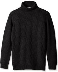 Pull à col roulé en tricot noir