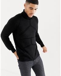 Pull à col roulé en tricot noir G Star