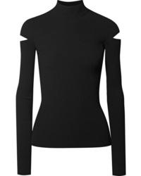 Pull à col roulé en tricot noir Helmut Lang