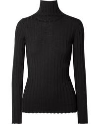 Pull à col roulé en tricot noir Petar Petrov