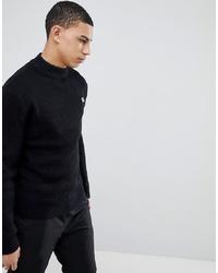 Pull à col roulé en tricot noir Soul Star