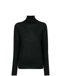 Pull à col roulé en tricot noir Stella McCartney