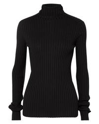 Pull à col roulé en tricot noir Victoria Beckham