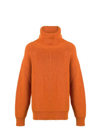 Pull à col roulé en tricot orange Tom Ford