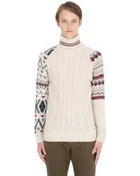 Pull à col roulé en tricot