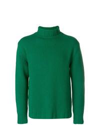 Pull à col roulé en tricot vert