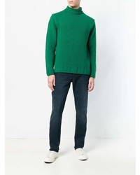 Pull à col roulé en tricot vert Closed