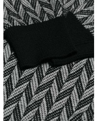 Pull à col roulé géométrique noir et blanc Givenchy