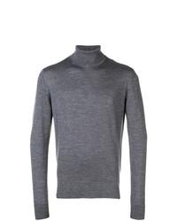 Pull à col roulé gris Calvin Klein