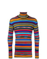 Pull à col roulé imprimé multicolore Missoni