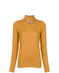 Pull à col roulé moutarde Chalayan