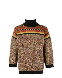 Pull à col roulé multicolore Jean Paul Gaultier Vintage