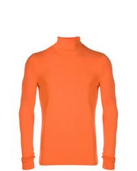 Pull à col roulé orange Raf Simons