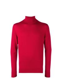 Pull à col roulé rouge Calvin Klein