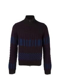 Pull à fermeture éclair en tricot pourpre foncé Al Duca D'Aosta 1902