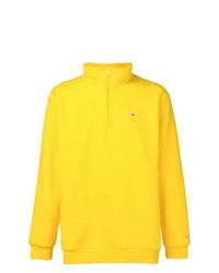 Pull à fermeture éclair jaune Tommy Jeans