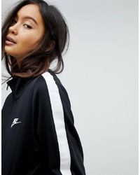 Pull à fermeture éclair noir Nike