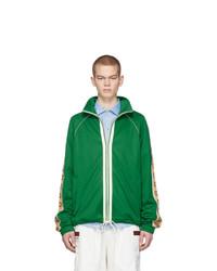 Pull à fermeture éclair vert Gucci