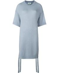 Pull à manches courtes bleu clair