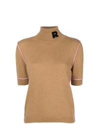 Pull à manches courtes brun clair Rochas