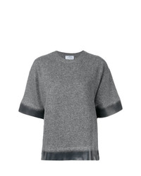 Pull à manches courtes gris Prada