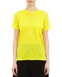 Pull à manches courtes jaune