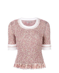 Pull à manches courtes rose Sonia Rykiel