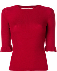 Pull à manches courtes rouge RED Valentino