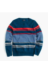 Pull à rayures horizontales bleu marine