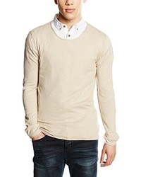 Pull beige Solid