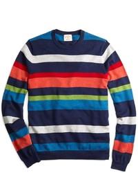 Pull blanc et rouge et bleu marine