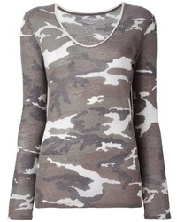 Pull camouflage gris Majestic Filatures