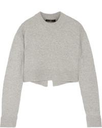 Pull court en tricot gris Tibi