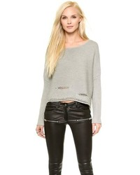Pull court gris
