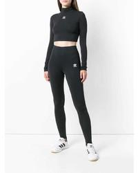 Pull court imprimé noir et blanc adidas