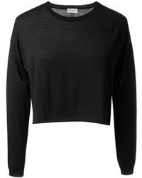 Pull court noir Saint Laurent