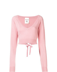 Pull court rose Semicouture
