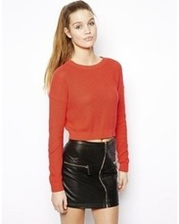 Pull court rouge Asos