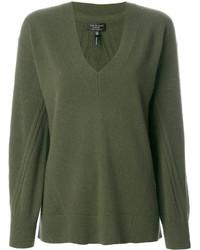 Pull en cachemire en tricot olive Rag & Bone