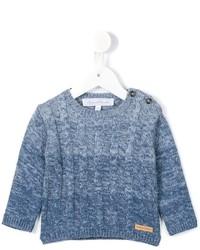 Pull en laine en tricot bleu clair Tartine et Chocolat