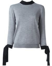 Pull en laine gris MSGM