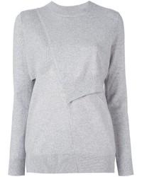 Pull en laine gris Proenza Schouler