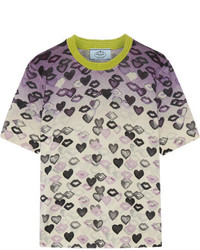 Pull en laine imprimé violet clair Prada