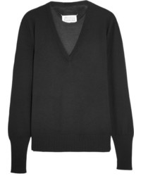 Pull en laine noir Maison Margiela