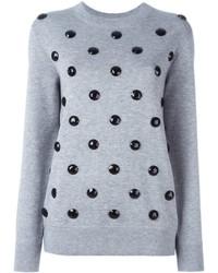 Pull en laine orné gris Marc Jacobs